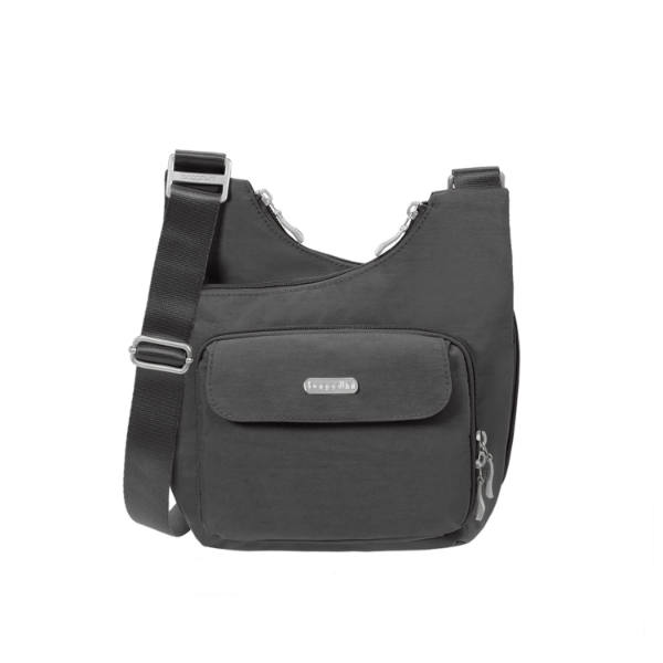 baggallini Criss Cross Bag in Charcoal