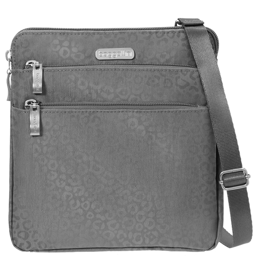 baggallini Zipper Bag in Cheetah Pewter