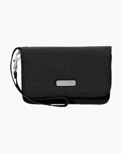 RFID Flap Wristlet in Black