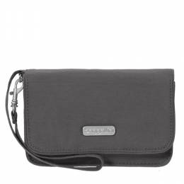 baggallini RFID Flap Wristlet in Charcoal
