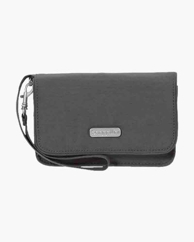 RFID Flap Wristlet in Charcoal