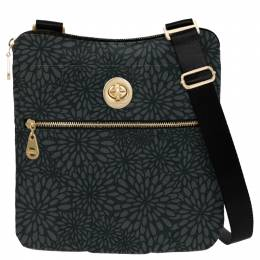 baggallini Gold Hanover Crossbody in Pewter Floral