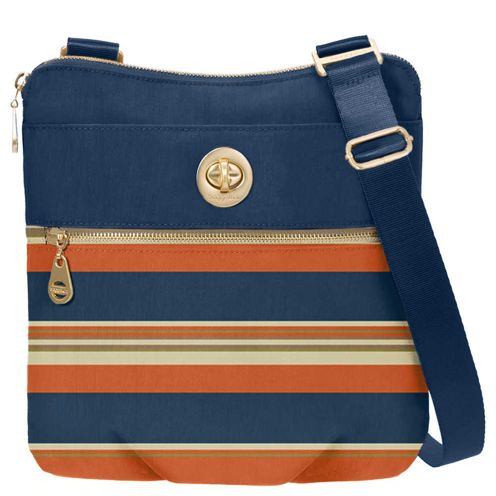 baggallini Gold Hanover Crossbody in Pacific Stripe