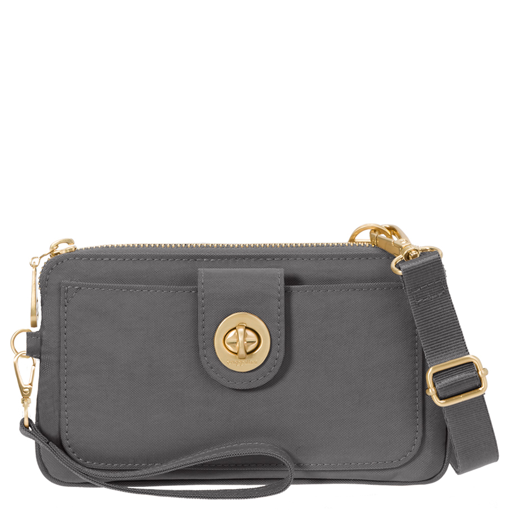 baggallini RFID Lisbon Wristlet in Charcoal