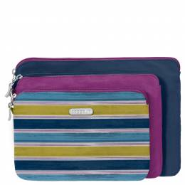 baggallini Three Pouch Travel Set in Tropical Stripe