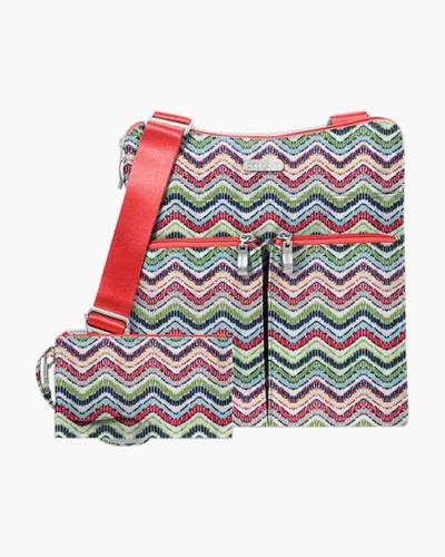 Horizon Crossbody in Wave Print