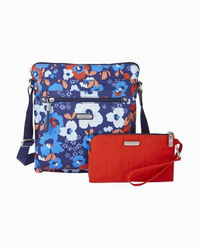 1e2ac3923e75 baggallini Go Bagg with RFID Phone Wristlet in Spring Bloom