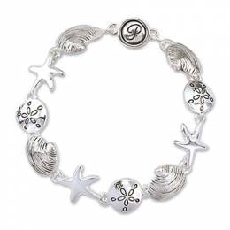 Periwinkle By Barlow Silver Sea Life Magnetic Bracelet