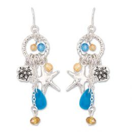 Coastal Charms and Crystals Earrings