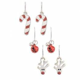 Periwinkle By Barlow Holiday Earrings Trio
