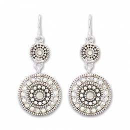 Periwinkle By Barlow Double Crystal Disc Earrings