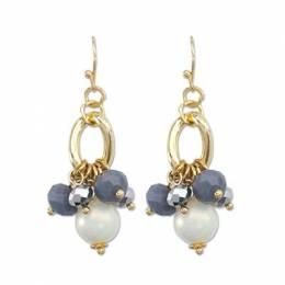 Periwinkle By Barlow Bead Drop Gold Earrings