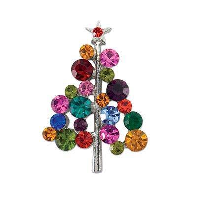 Multicolored Christmas Tree Pin