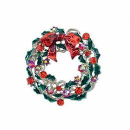 Periwinkle By Barlow Christmas Wreath Tree Pin