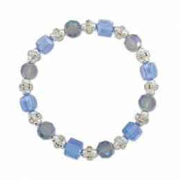 Periwinkle By Barlow Blue Crystal and Rondelle Bracelet