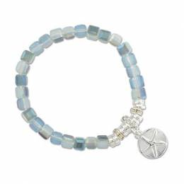 Periwinkle By Barlow Starfish Charm Crystal Bead Bracelet