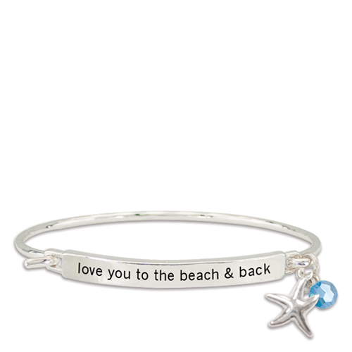 Periwinkle by Barlow Love You to the Beach and Back Say It! Bracelet