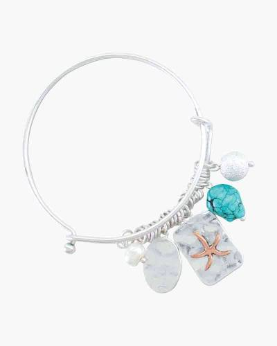 Beaded Pearl and Starfish Charm Bracelet
