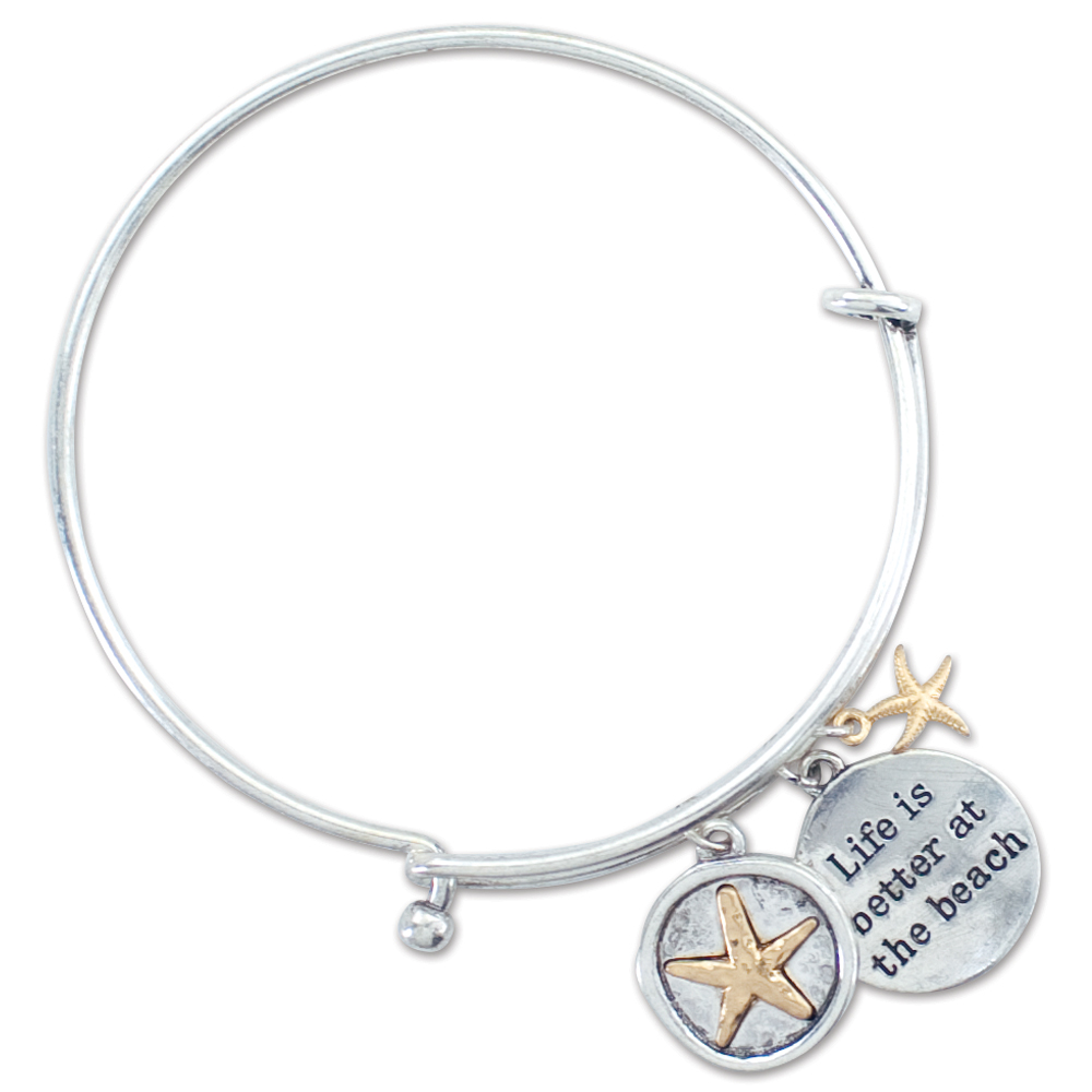 Periwinkle by Barlow Life is Better at the Beach Charm Bangle