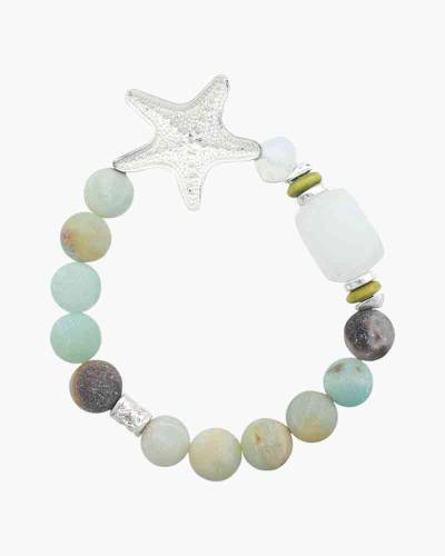 Pastel Beaded Starfish Charm Bracelet