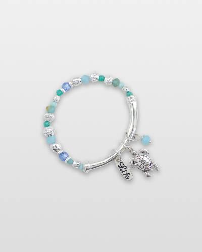 Beaded Turtle Charm Bracelet
