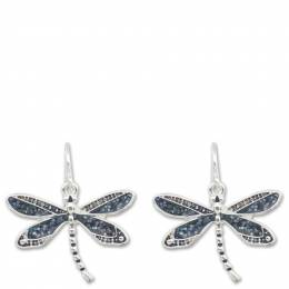 Periwinkle by Barlow Navy Inlay Dragonfly Earrings