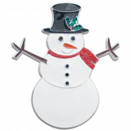 Periwinkle by Barlow Snowman Pin