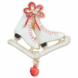 Periwinkle by Barlow Ice Skates Pin