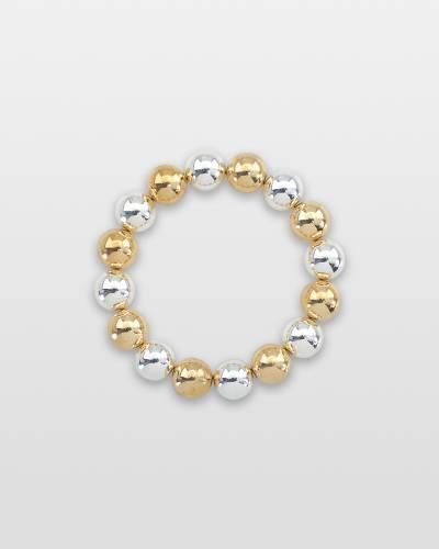 Two-Tone Ball Bracelet