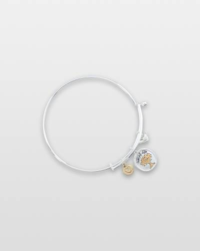 Two-Tone Tree of Life Charm Bracelet