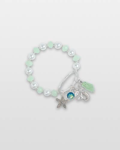Sassy Mermaid and Starfish Charm Bracelet