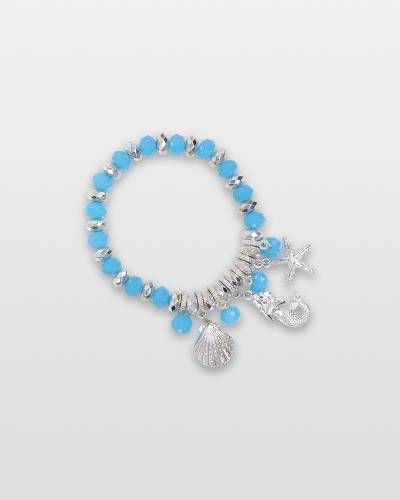 Mermaid and Coastal Charms Bracelet
