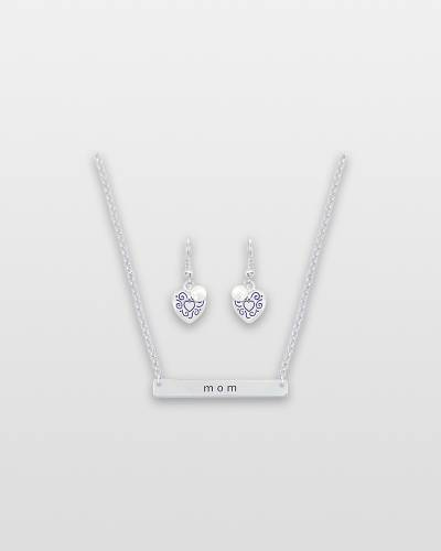 Say It! Mom Necklace and Earrings Set