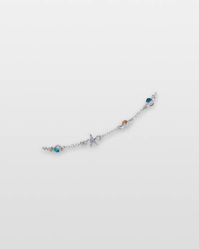 Multicolor Crystals and Starfish Anklet