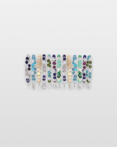 Semi-Precious Stones Charm Bracelet (Assorted)