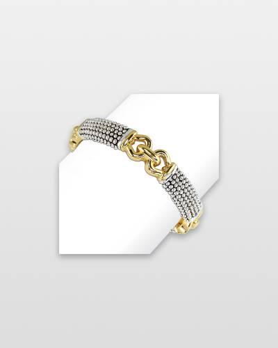 Textured Two-Tone Bracelet