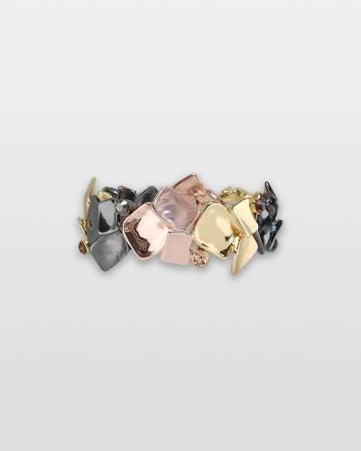 Tri-Tone Geometric Bracelet