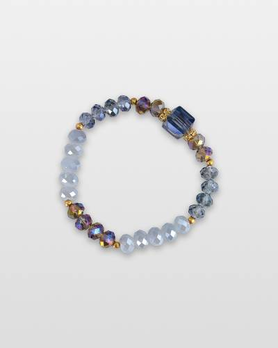 Faceted Cube Bead Bracelet