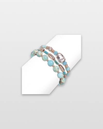 Layered Murano Beaded Bracelet