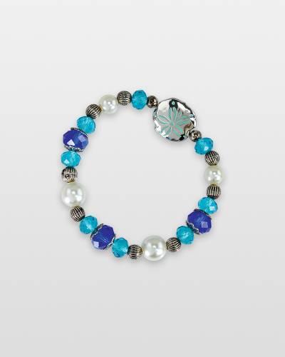 Sand Dollar and Pearl Beaded Bracelet