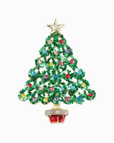 Glitter Christmas Tree Pin
