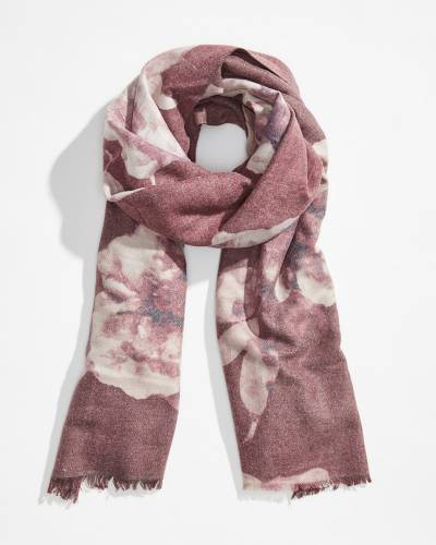 Soft Oblong Floral Scarf
