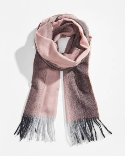 Gradient Print Scarf in Pink and Grey