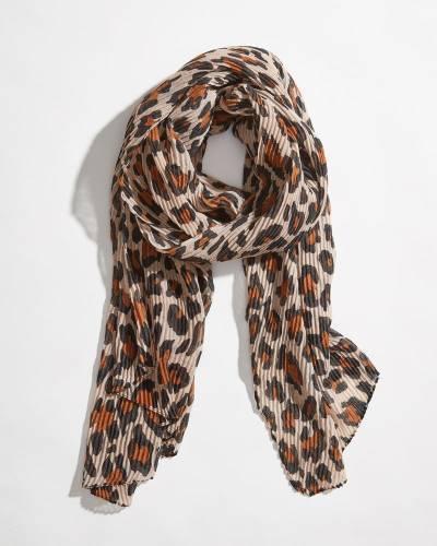 Lightweight Leopard Print Scarf