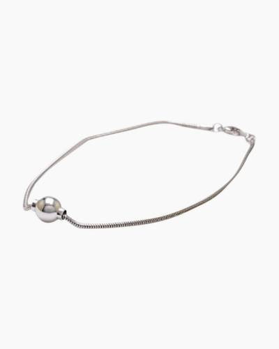 Smooth Silver Single Anklet