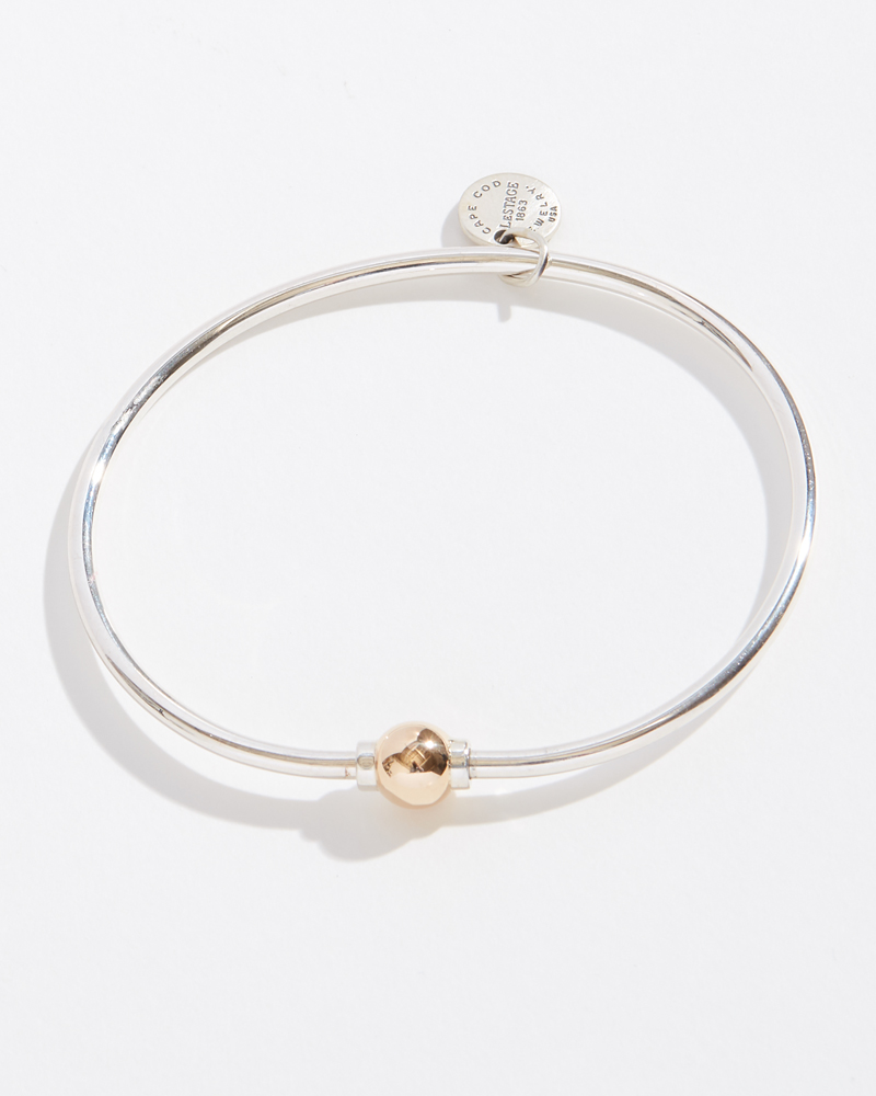 LeStage Two-Tone Single Ball Cape Cod Jewelry Collection Bracelet