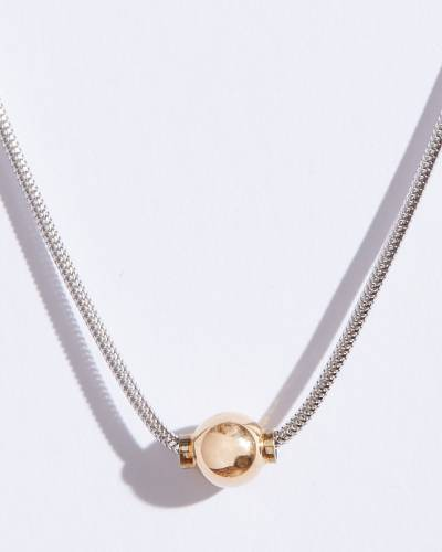 Smooth Single Pendant Necklace (16 Chain)