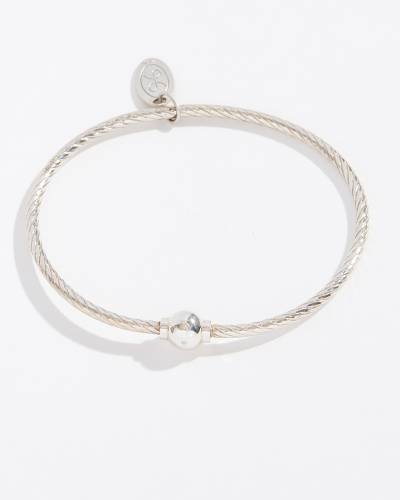 Single Ball Textured Sterling Silver Cape Cod Jewelry Collection Bracelet
