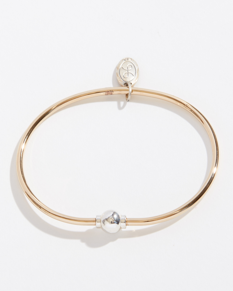 LeStage Reverse Two-Tone Single Ball Cape Cod Jewelry Collection Bracelet