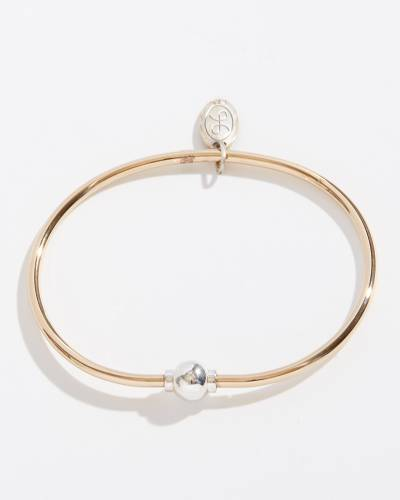 Reverse Two-Tone Single Ball Cape Cod Jewelry Collection Bracelet